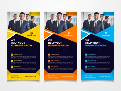 Rack card & DL flyer design creative template corporate business flyer corporate flyer leaflet business flyer brochure postcard rack card dl flyer