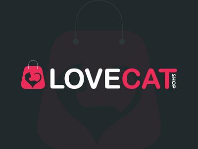 Cat Shop logo design branding logo graphic design cat shop shopping pets cute logo animal clean shop logo modern shop logo icon web app minimalist logo best logo designer