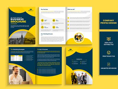 Company profile | Handout design | Booklet design logo corporate template trifold brochure printable corporate catalog buiness brochure booklet design handout design company profile