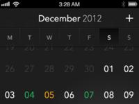 Calendar pixels