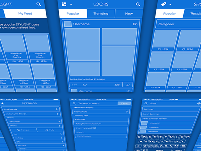 Wireframin' wireframe iphone app application blueprint. mobile ui ux interface ios ios7