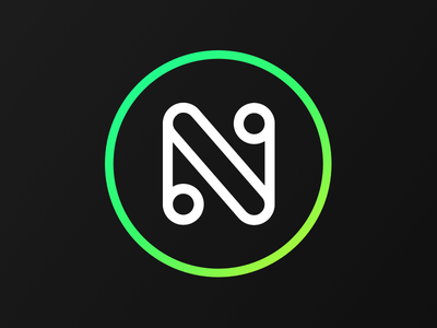 The N logo n circle personal icon gradient