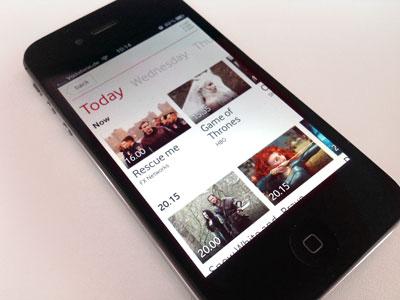 Mobile Epg epg tv show app white typography