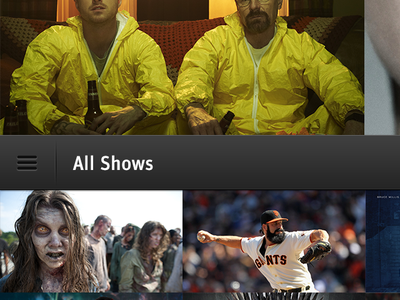 TV Shows mobile iphone app application tv shows tv shows epg
