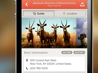 Mused Guide iphone app application guide museums mused pictures icons tags orange mobile