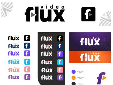 Flux Video logo flat logo design app app design logodesign logo vector illustrator design branding