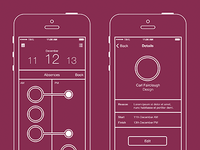 Timetastic iPhone app wireframes