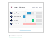 Timetastic email report design (weekly)