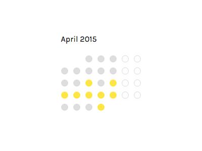 Freelance Availability Calendar calendar freelance minimal availability carl fairclough