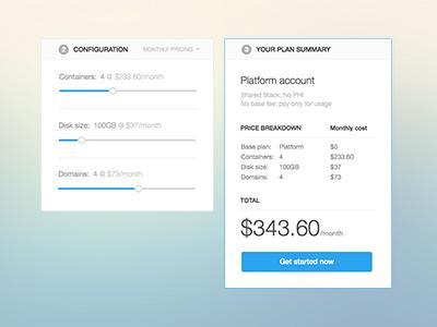 Customizable/Bespoke Pricing Plans sliders custom pricing plans pricing plans plans pricing