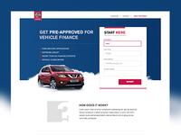 Credit Nissan Landing Page
