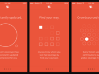 Tecken onboarding screens