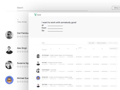 Freelancer Availability Tool, Vrend
