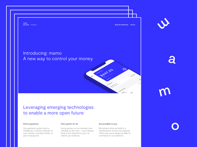 Landing Page Concept banking landing page marketing blockchain finance