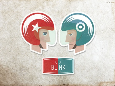 Blink blink character illustration