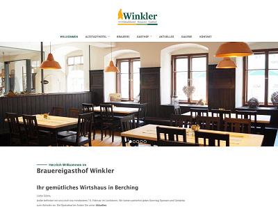Wirtshaus Website desktop flat design minimal hotel restaurant branding webdesign website