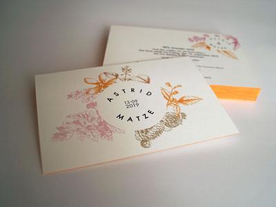 wedding invitation indesign design flat typography illustration minimal edge painting wedding