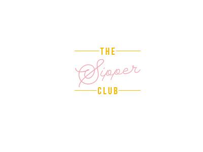 the sipper club bar wine logo branding typography flat indesign design minimal
