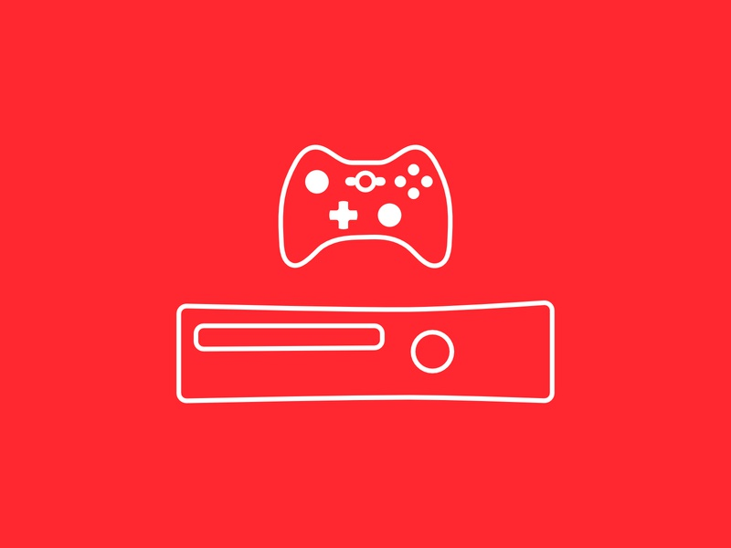 Xbox 360 + Controller Icon xbox360 360 xbox videogame vector ux ui original minimal illustration icon gaming game flat controller