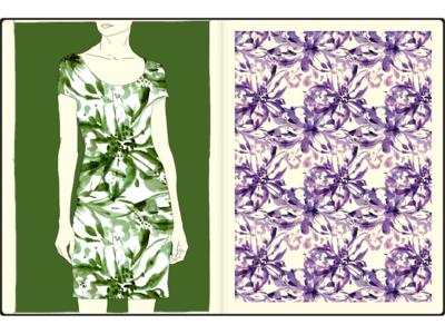 32 forsale allover textile watercolor pattern design pattern art fashion print illustration