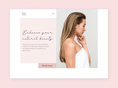 Beauty House/Main Page minimalism typography minimal web salon beauty website branding ui  ux design