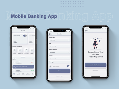 Mobile Banking App minimalism ux design ui design app design neumorphism ui neumorphism mobile banking app mobile banking mobile app design mobile app