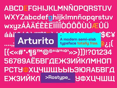 Arturito / Free Font typo typedesign freelancer freelance freebie slab serif font slab serif slabserif fonts font awesome font design font family font freebies free type design typography type art typeface type