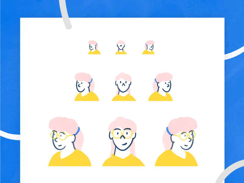 Illustrated characters - Wolox character design characters character rebranding rebrand visual identity sketch react illustration graphic design draw design branding brand illustration art