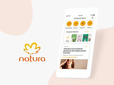 Mobile App - Natura visual ux ui mockup mobile ui mobile design mobile app mobile iphone interface graphic design exploration ecommerce design cosmetic beauty application app