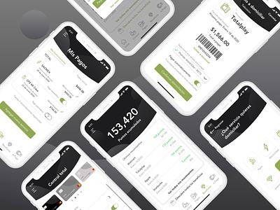 Wallet app - Banking finance banking mobile app user interface interface user experience mobile branding ux ui graphic design design