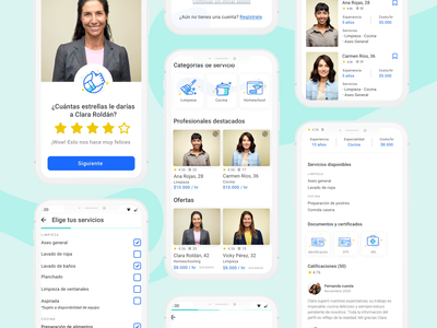 Mobile App - We Do mobile app mockup chores user interface interface cleaning house housework app user experience mobile ui ux graphic design design