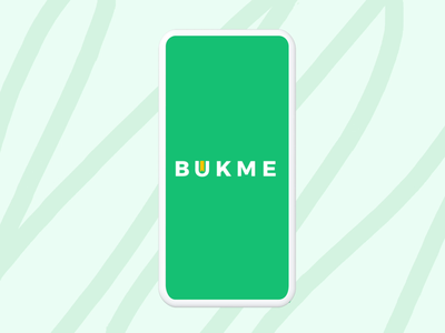 Logo - Bukme restaurant food mobile ae app after effects animation user experience branding ui ux graphic design design