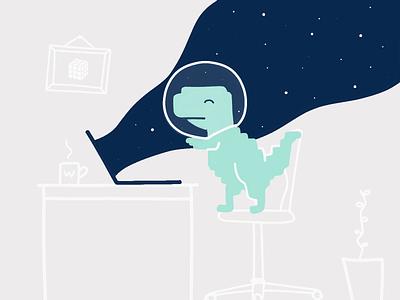 We're hiring! 📢 job offer designer dinosaur job listing recruiting job vacancy career hiring jobs illustration graphic design design