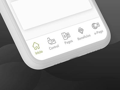 Navbar - Banking interaction app fintech banking mobile navbar animation after effects user experience ux ui graphic design design navigation