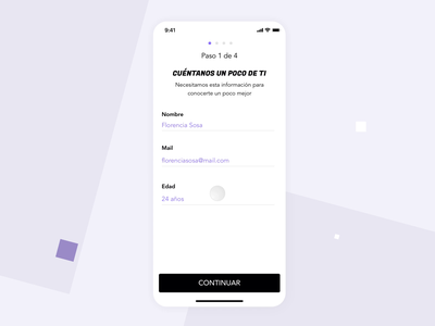Onboarding - Fitness user experience onboarding training mobile design animation workout app workout fitness app fitness