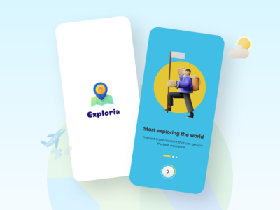 Exploria - Travel app mobile app design 3d userinterface user experience ux explore chennai travel agency travel app mobile ui figma mobile app animation ux  ui user interface design chennai designer user experience mockup uxuidesign uidesign adobexd