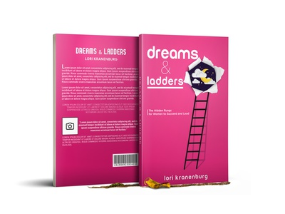 Book Cover - Ebook Cover - Amazon Kindle Cover writers author branding packaging ladders dreams mockup book cover mockup ebook cover women kindle illustration self-publishing paperback kdp layout books cover design ebook design book design