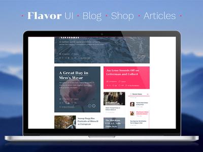 Flavor UI articles shop blog ui