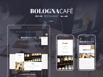 Bologna Cafe Italian Restauran uxui web-design