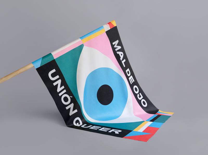 Mal de Ojo. Pride vector color palette flag illustration design