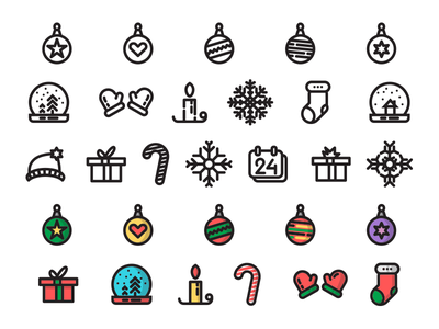 Christmas Time - free icon set calendar snowflake candle gift freebie christmas icons