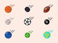 Sporty Balls - free icon set
