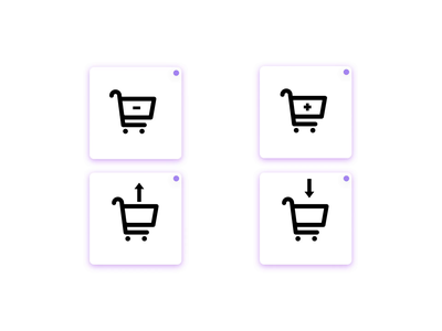 Shopping Cart Add / Remove Animated Icons motiongraphics motion design lottieanimation icons pack business ecommerce business selling shopping shoppingcart ecommerce iconset lottiefiles lottie microinteractions animated animations icons