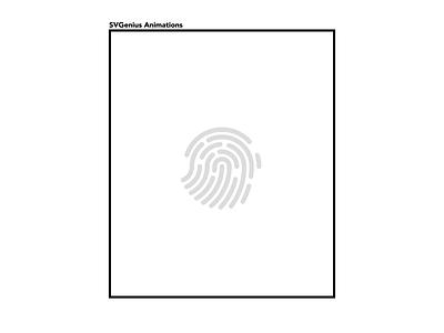 Fingerprint Animated Icon ui animatedicons lottiefiles animated motiongraphics motion design lottieanimation lottie