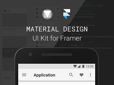 UI Kit for Framer download freebie ui kit framer material design md ui android