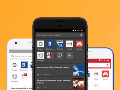 Themes in Opera browser material design android browser mobile themes
