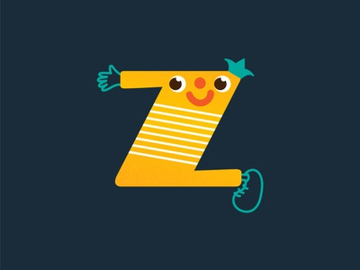 Z for Zany | 36 Days of Type character design character 2d character 2d 2d art adjectives adjective typography letter z letters letter alphabet 36daysoftype07 36daysoftype digital illustration digital drawing digital art illustration digital