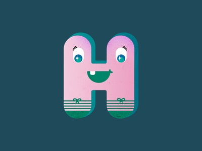 H for Happy | 36 Days of Type typography typeface alphabet character design type letter h letters letter adjective adjectives 36daysoftype07 36daysoftype 2d character 2d art digital illustration digital drawing digital art illustration digital