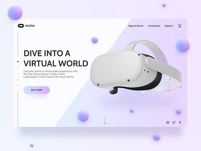 Daily UI 012: Ecommerce Product product ecommerce blue purple gradient virtualreality oculus vr webdesign daily ui ux dailyui dailyuichallenge