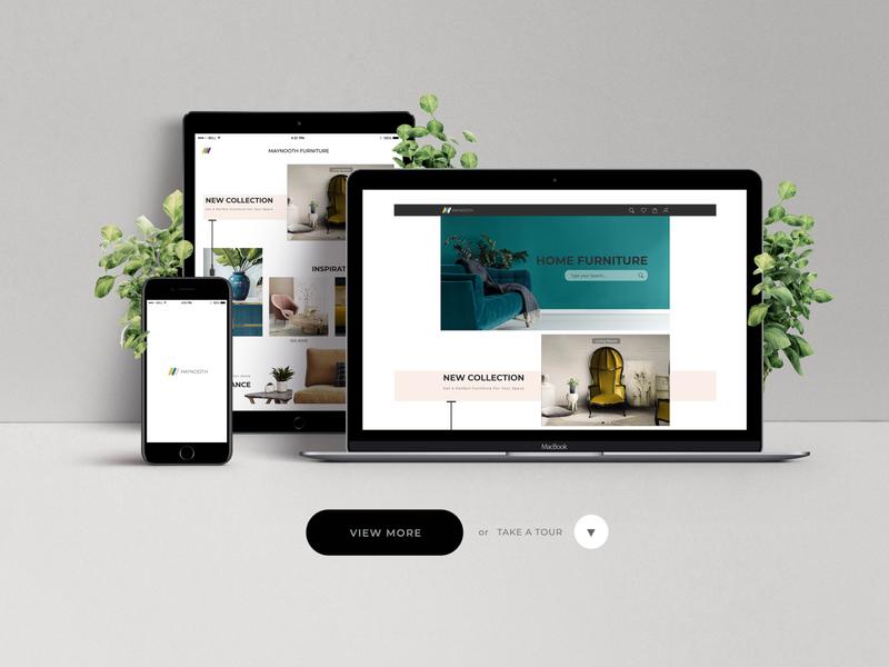 Website|App Design : Maynooth Furniture ecommerce art app ux logo layout exploration webdesign design ux ui website